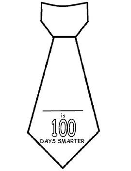 Tie Shaped Card Template by 100th Day Tie Template By Made For Ontario Teachers Dollar