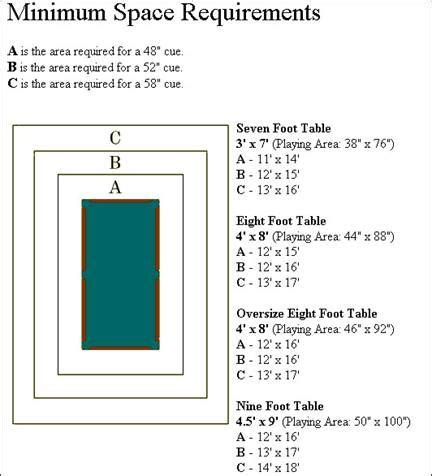 25 best ideas about pool table sizes on pool