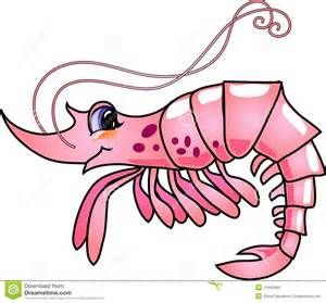 cartoon shrimp royalty free stock photo image 13440465