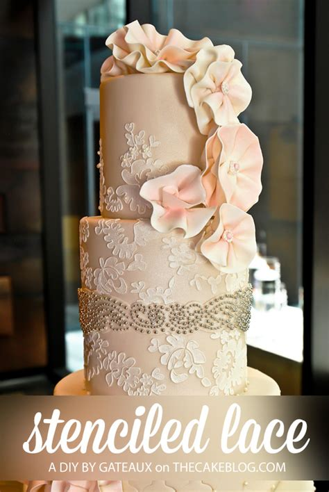 Lace Templates For Cakes by Diy Stenciled Lace Tutorial