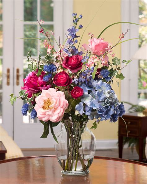 silk flower arrangements fake flower bouquets shop decorate with painter s palette silk flower arrangement at