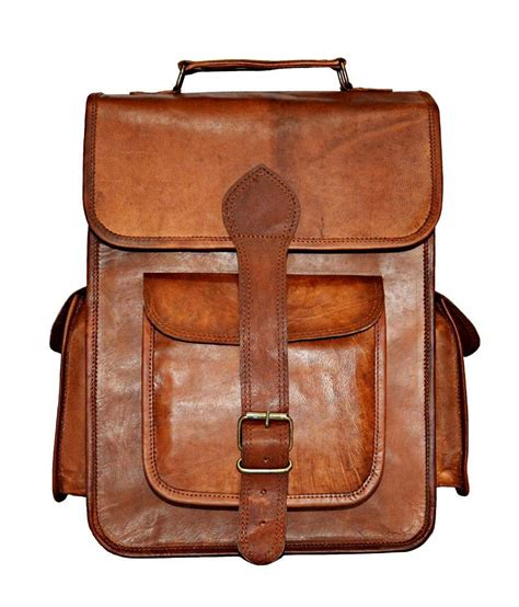 Handmade Rucksack - real leather school rucksack handmade messenger bagpack