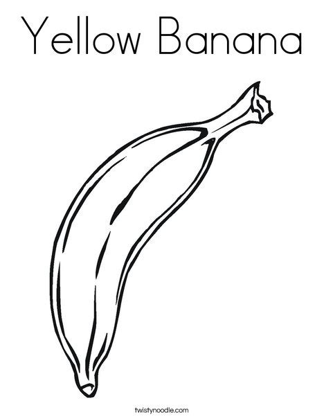 yellow coloring pages for toddlers yellow banana coloring page twisty noodle