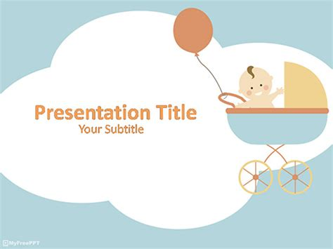 Free Baby Powerpoint Templates Myfreeppt Com Baby Shower Powerpoint Templates