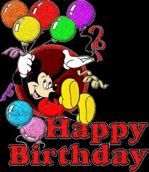 Mickey Mouse Wishing Happy Birthday Glitter Graphics Of Happy Birthday Http