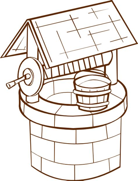 free coloring pages of water well wishing well clip art at clker com vector clip art