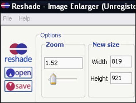 image enlarger reshade image enlarger