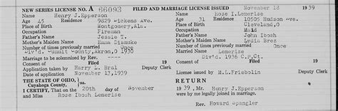 Marriage licenses in cuyahoga county ohio