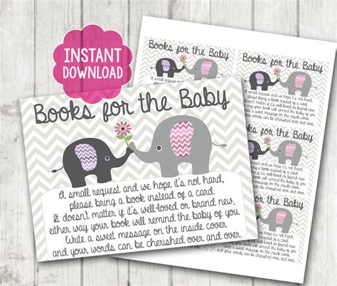 baby shower bring a book instead of a card template printable quot bring a book instead of a card quot baby shower