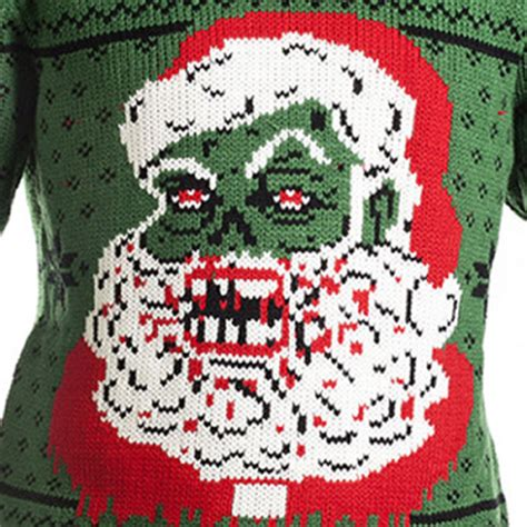 zombie christmas sweater santa claus pullover sweater