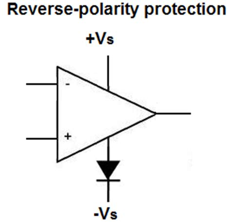 diode polarity effect op polarity protection