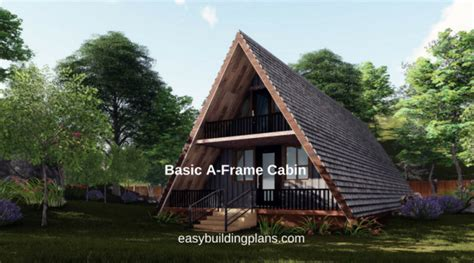 a frame house plans with garage basic a frame cabin easybuildingplans