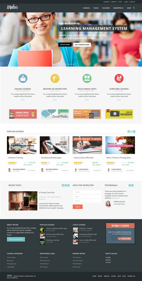 themes education wordpress free wplms a premium education wordpress theme free download
