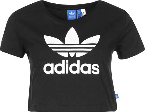 Adidas T Shirt Tshirt Black adidas slim crop w t shirt black