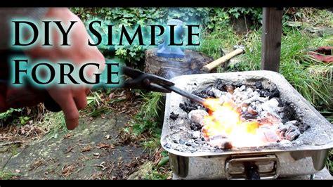 simple diy blacksmiths forge youtube