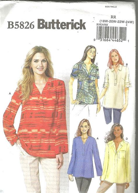 pattern review butterick 5826 butterick 5826 sewing pattern plus sizes pullover top 18w