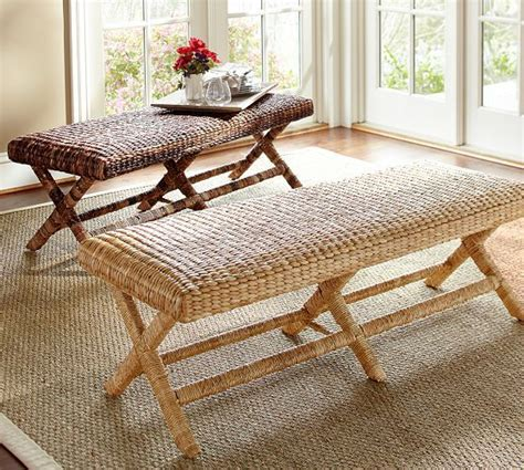 seagrass bench seagrass bench pottery barn 399 woven seagrass brings
