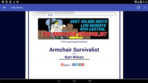 armchair survivalist the armchair survivalist radio show android apps on google play