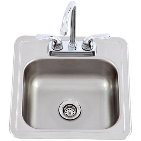 Outdoor Kitchen Sink Faucet 15 X 15 Outdoor Stainless Steel Sink With Cold Faucet 54167 The Outdoor