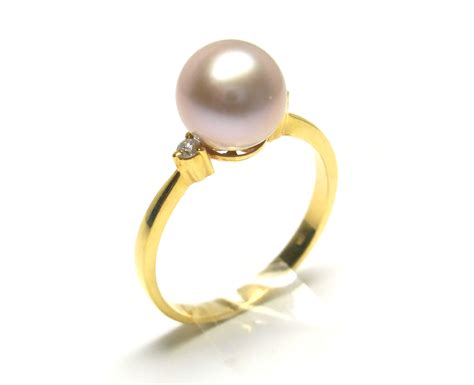 Pearl Ring lavender freshwater pearl ring 8mm 9mm aaa pearl rings