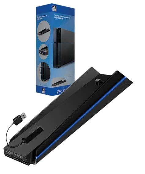 Vertical Stand Ps 4 4gamers officially licensed vertical stand n usb hub ps4