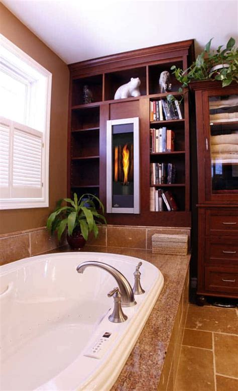 Bathrooms With Fireplaces - 51 mesmerizing master bathrooms with fireplaces