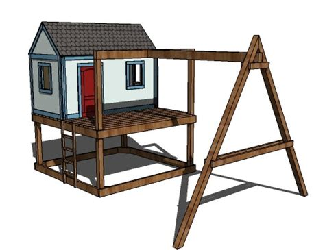 swing set playhouse plans ana white how to build a swing set for the playhouse