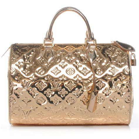 Visionaire Gets Wonkafied By Louis Vuittons Miroir by Louis Vuitton Monogram Miroir Mirror Speedy 30 Gold 45345