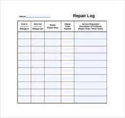 Car Repair Template by Repair Log Template 9 Free Documents In Pdf Excel