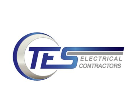 electrical contractors tes electrical contractor logo design