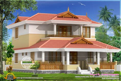 designer home plans beautiful traditional home elevation kerala home design