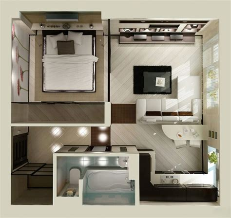 Tiny Apartment by Studio Apartment Floor Plans