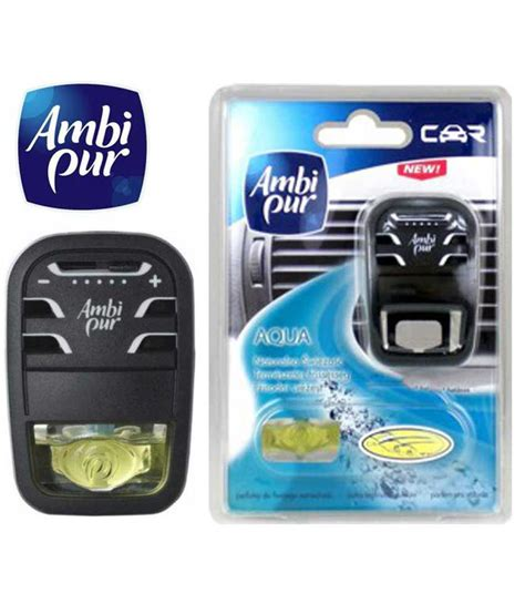 Ac 1 2 Pk Aqua ambi pur starter pack car ac vent air freshener perfume