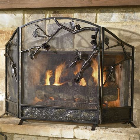 glass fireplace screen on custom fireplace quality