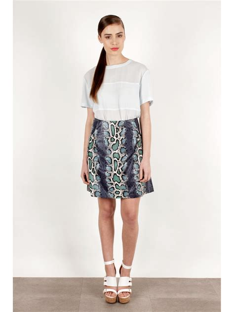 fashion pu leather a line skirt in 2014 slim fashion