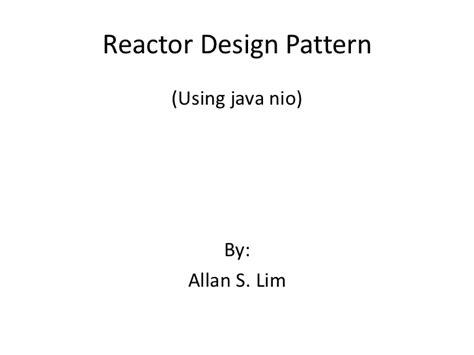 design pattern reactor reactor design pattern