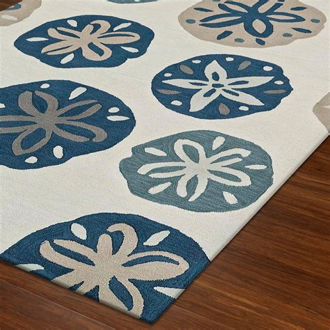 Costal Rugs by Pansy Shell Sand Dollar Coastal Area Rugs