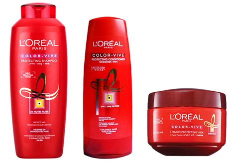 Loreal Shoo 330ml Color bo san pham cham soc toc nhuom loreal color vive