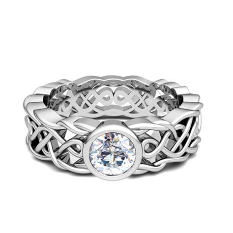 solitaire engagement ring in platinum celtic