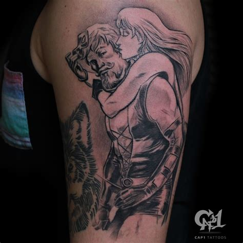 green arrow tattoo green arrow and black canary by capone tattoonow