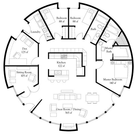 floor plans for round homes monolithic dome home floor plans an engineer s aspect