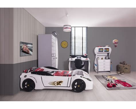 ferrari white car bedroom set boys bedroom set