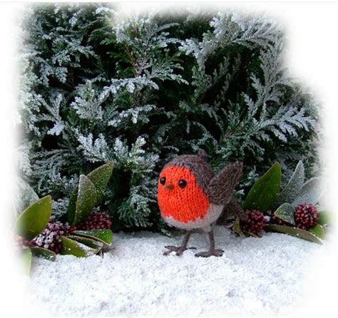 knitting pattern christmas robin the old toy knitting shop