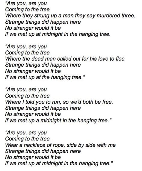 hunger games theme song the hanging tree lyrics from mockingjay geekquinox