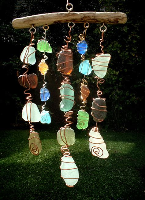 How To Make Handmade Hanging Ls - scottish sea glass mobile by artisanne via flickr pinpoint