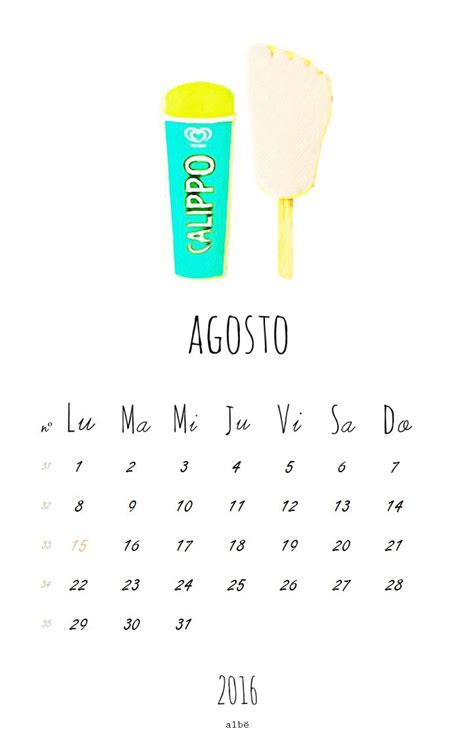Calendario Agosto 2016 Las 25 Mejores Ideas Sobre Calendario Agosto 2016 En