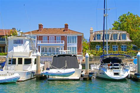 newport beach boat slips newport beach bayfront homes for sale with boat slip attached