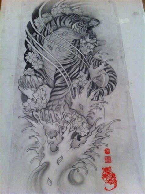 tattoo japanese sketch tiger tattoo sketch ink pinterest tiger tattoo