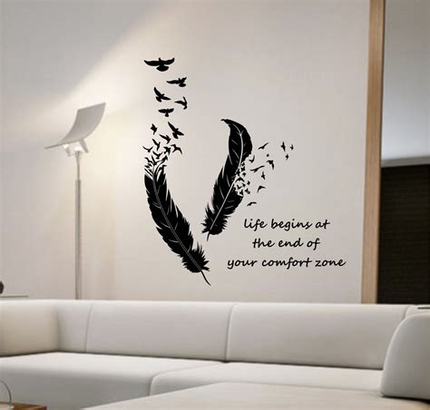 feathers turning  birds vinyl wall decal sticker art