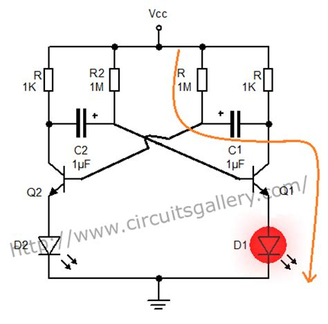 use capacitor in transistor lifier circuit astable multivibrator using transistors transistorised circuit wave form and operation